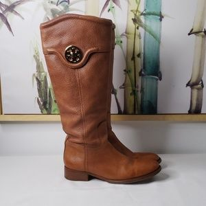 Tory Burch Selma Riding Boot in Almond Size 8.5